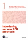 Introduction to new CPD proposals