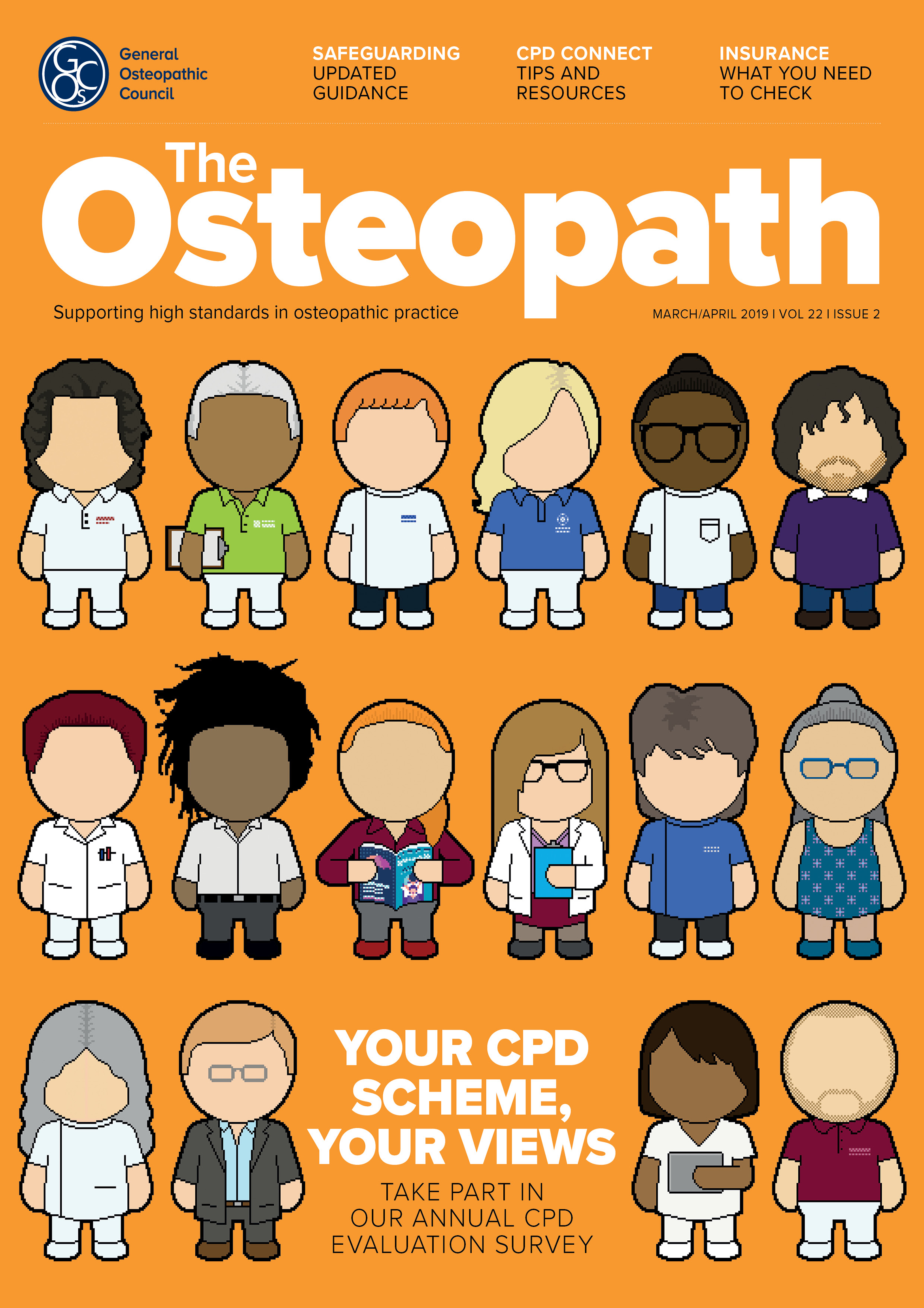 The Osteopath volume 22 issue 2 front cover