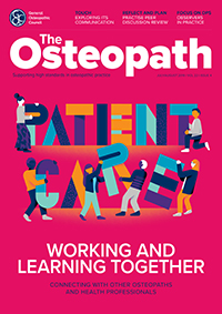 The Osteopath July/August 2019 cover
