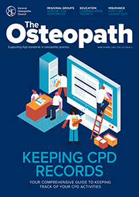 The Osteopath March/April 2020 cover image