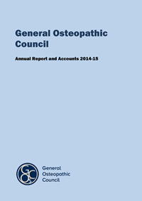 GOsC annual report and accounts 2014-2015