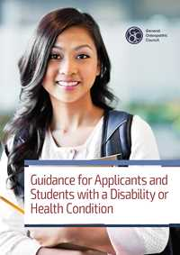 Guidance for students with a disability or health condition