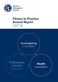 Fitness to practise annual report 2017-18