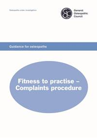 Fitness to practise - complaints procedure