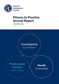 Fitness to practise annual report 2018-19