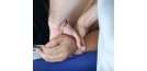 Osteopath treating hands