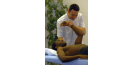 Male osteopath and male patient - shoulder