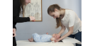 Osteopath and baby