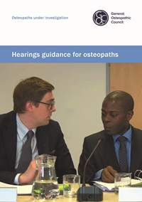 Hearings guidance for osteopaths