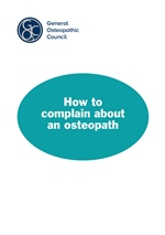 How to complain about an osteopath
