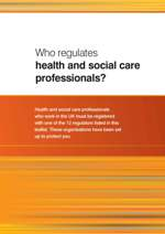 Who Regulates Health and Social Care Professionals leaflet