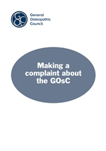 Making a complaint about the GOsC