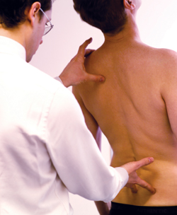 Patient having examination