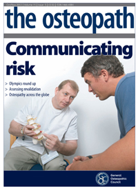 the osteopath oct/nov 2012