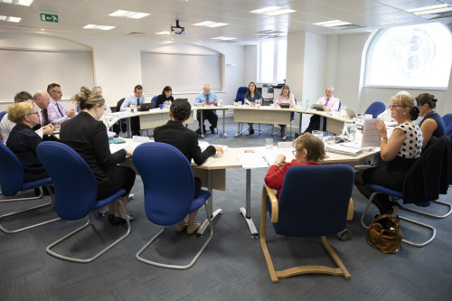 A Council meeting taking place